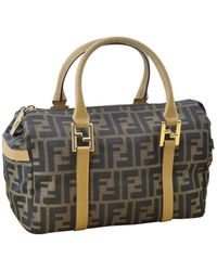 Fendi \n Brown Cloth Handbag
