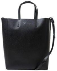 Céline Cabas Black Patent Leather Handbag