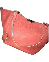 Burberry Woodbury Leder Shopper - Pink