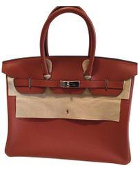 14a289e0e5 Hermès Pre-owned Kelly Mini Leather Mini Bag in Yellow - Lyst