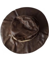 Marni - Brown Leather Hats - Lyst