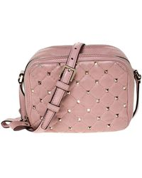Valentino Rockstud Spike Leder Handtaschen - Pink