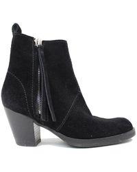 Acne Studios Pistol Black Suede Ankle Boots