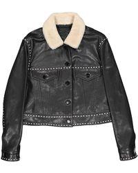 Barbara Bui Black Leather Jacket