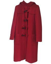 Moschino Red Wool Coats