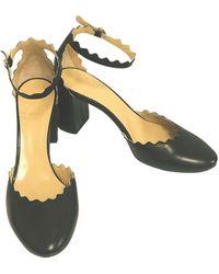 Chloé Lauren Black Leather Heels