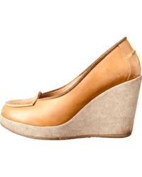 A.P.C. Beige Leather Flats - Natural