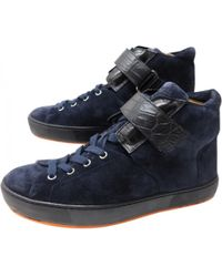 Hermès - Pre-owned Leather Trainers - Lyst