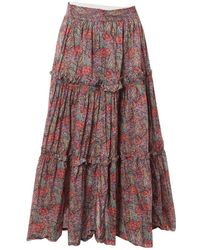 Oscar de la Renta Multicolour Cotton Skirt