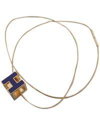 Hermès Cage D'h Metal Necklace - Metallic