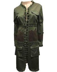 Dior - Vintage Khaki Cotton Coat - Lyst