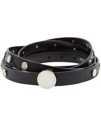 Oscar de la Renta Black Leather Belt