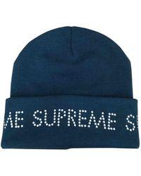 Supreme Strickmütze - Blau