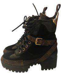 Louis Vuitton Laureate Leder Geschnürt boots - Schwarz