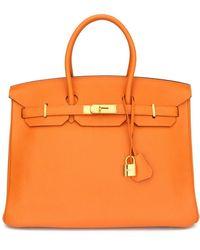 Hermès Birkin 35 Leder Handtaschen - Orange