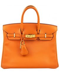 Hermès Birkin 25 Leather Handbag - Orange