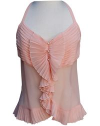 Chanel - Pre-owned Pink Silk Tops - Lyst