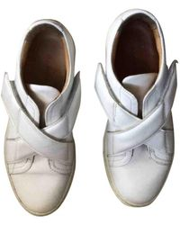 Carven Leather Sneakers - White