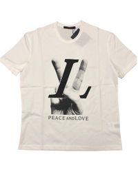Louis Vuitton - Pre-owned White Cotton T-shirt - Lyst