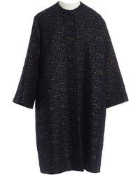 ROKSANDA - Navy Wool Coat - Lyst