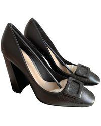 Bottega Veneta Leather Heels - Black