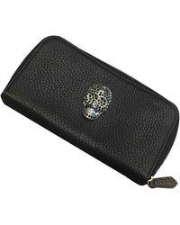 Philipp Plein Leather Wallet - Black