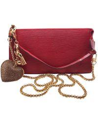 Louis Vuitton Pochette in pelle rosso Pochette Accessoire