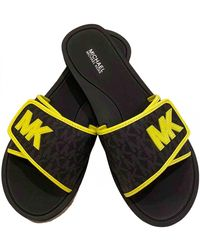 Michael Kors Black Polyester Sandals