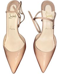 Christian Louboutin Tacones So Kate de Cuero - Neutro