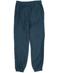 Lanvin Blue Polyester Trousers