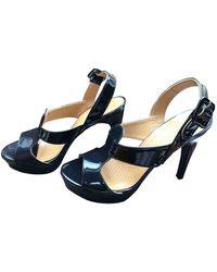 Anya Hindmarch Black Patent Leather Heels