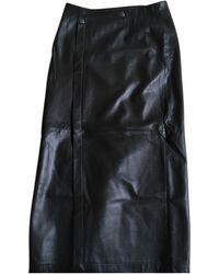 Iris Von Arnim Leather Maxi Skirt - Green