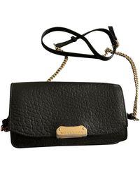 Burberry Leather Clutch Bag - Black