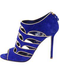 Sergio Rossi - Blue Suede Sandals - Lyst