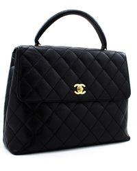 Chanel Coco Handle Black Leather Handbag