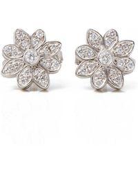 fa62f3f2b Tiffany & Co. - Pre-owned White Platinum Earrings - Lyst