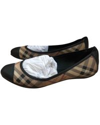 Burberry Patent Leather Ballet Flats - Black