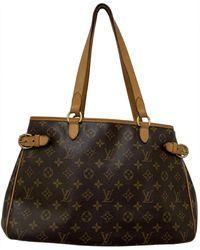 Louis Vuitton Borsa a mano in tela marrone