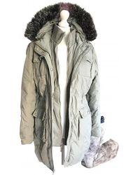 Michael Kors Grey Synthetic Coat