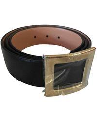 Roger Vivier Leather Belt - Black