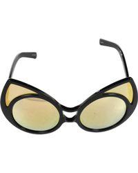 3a77357248 Linda Farrow - Black Plastic Sunglasses - Lyst