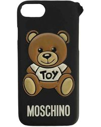 Moschino Cloth Phone Charm - Black