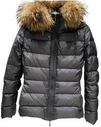 Moncler Fur Hood Anorak - Grau