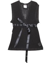 Chanel - Black Viscose Top - Lyst