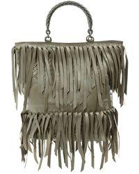 Bottega Veneta - Grey Leather Handbag - Lyst