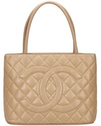 Chanel Médaillon Brown Leather