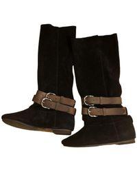 Étoile Isabel Marant Leather Boots - Black