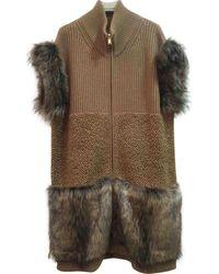 Stella McCartney Abrigo en lana beige - Neutro