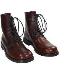 Ann Demeulemeester - Boots en cuir - Lyst