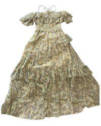 Ulla Johnson Silk Mid-length Dress - Yellow